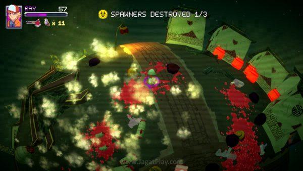 Beda level, beda tema, misi dan karakteristik musuh yang sama.