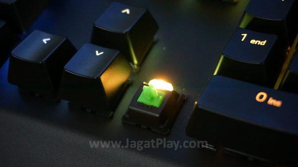 LED yang lugas juga menghasilkan efek yang berbeda dibandingkan iterasi Blackwidow Chroma yang lain.