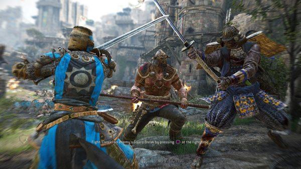 Pertarungan antara tiga faksi besar - Knight, Viking, dan Samurai menjadi fokus For Honor.