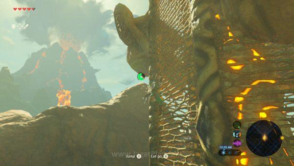 Seperti Spiderman, Link bisa memanjat semua hal yang ingin ia panjat. Tentu saja, tingginya akan ditentukan oleh jumlah stamina yang Anda miliki.