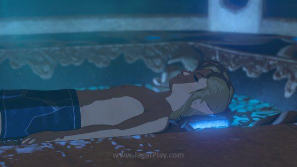Link terbangun di sebuah area misterius tanpa ingatan sama sekali.