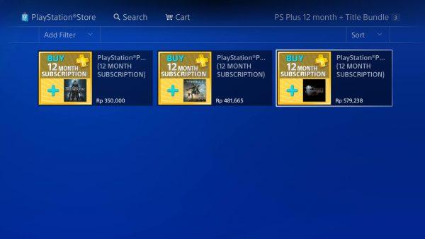 Playstation Asia menawarkan bundle PS Plus yang membuat harga Bloodborne, Titanfall 2, dan Final Fantasy XV jauh lebih murah.