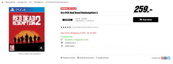 """Salah satu situs retailer Polandia sempat menuliskan """"3 Oktober 2017"""" sebagai tanggal rilis untuk Red Dead Redemption 2."""