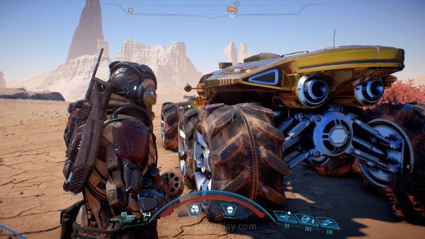 """Dengan kendaraan roda enam Anda - Nomad, Anda bisa mengeksplorasi dunia untuk membuat mereka lebih """"nyaman"""" untuk dihuni."""