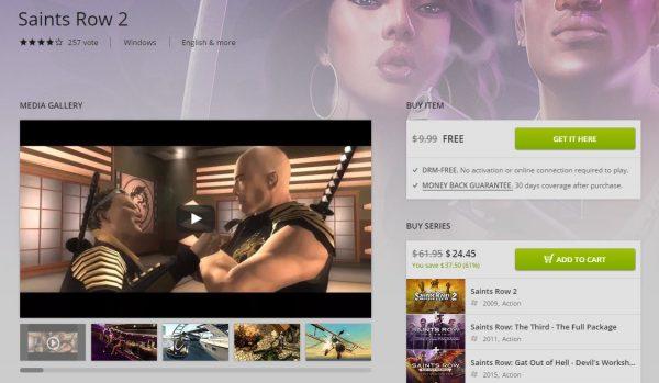 Dengan batas waktu klaim tinggal 43 jam saja, Anda bisa mendapatkan Saints Row 2 original secara gratis via GOG.