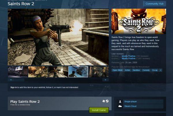 Selain GOG, Saints Row 2 juga gratis di Steam!