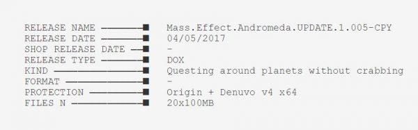 """Dengan rilis update 1.05 ME: Andromeda ini, CPY menegaskan bahwa mereka sudah punya """"kunci"""" untuk membobol Denuvo V4 yang hanya bertahan selama setidaknya, 20 hari."""