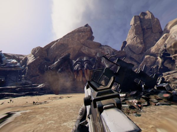 Seperti game FPS konvesional, Anda kini mengendalikan secara penuh karakter utama Anda. Farpoint bukan sebuah game rail-shooter seperti game VR kebanyakan!