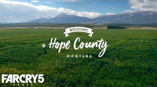 Far Cry 5 lepas teaser perdana untuk mengkonfirmasikan Hope County, Montana, AS sebagai setting utama. Lokasi yang berakhir tepat dari rumor Reddit sebelumnya yang juga menyebutkan sekte agama sesat sebagai lawan utama di sana.