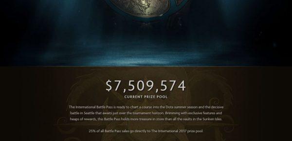 Hadiah The International 2017 sudah menembus angka USD 7,5 juta atau sekitar 100 Milyar Rupiah dalam waktu yang sangat singkat.