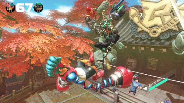"""Berbeda dengan game fighting kebanyakan yang mulai menghadirkan mode cerita dalam format sinematik, ARMS hadir dengan pendekatan """"lawas""""."""