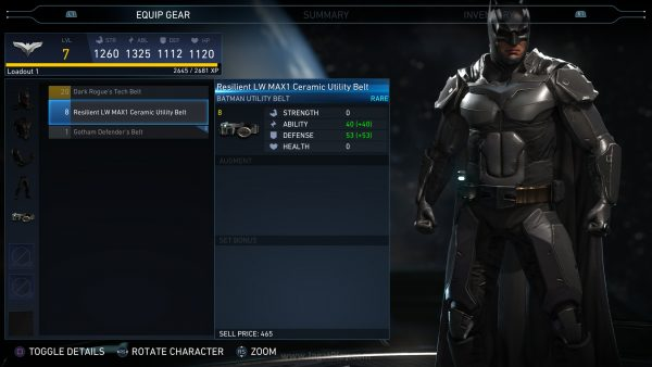 Anda bisa melihat perubahan apa yang ditawarkan tiap equipment lewat angka yang mewakili tiap status, seperti layaknya game RPG.