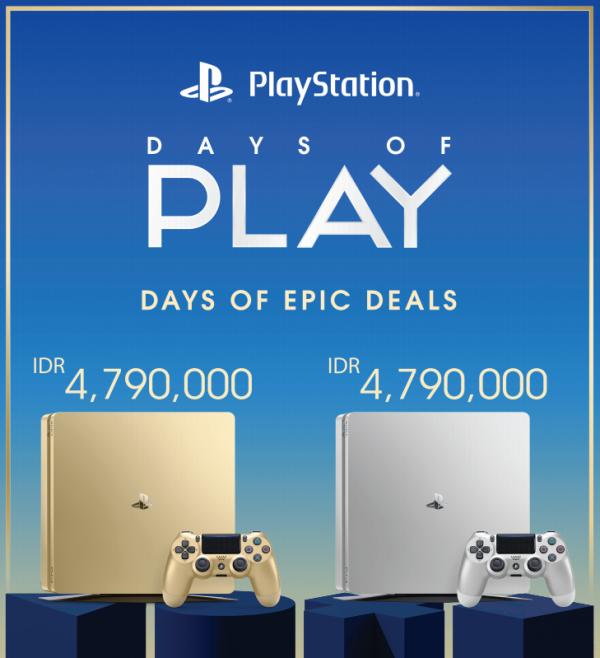 Harga resmi PS4 Gold dan Silver untuk pasar Indonesia sudah tersedia.