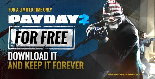 Anda bisa mengklaim dan mengunduh Payday 2 secara cuma-cuma sekarang!