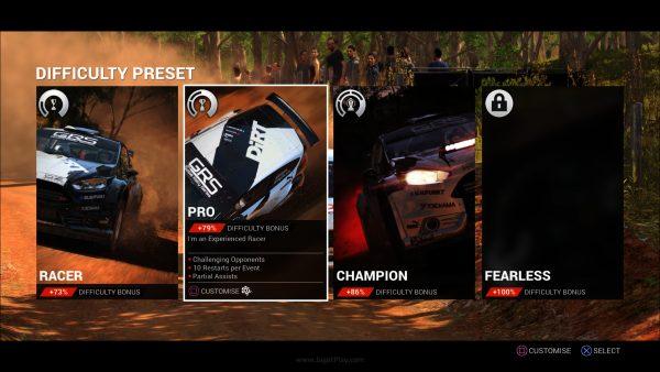 Ada perbedaan tingkat kesulitan juga di mode untuk Anda yang masih melihatnya sebagai game racing yang terlalu sulit.