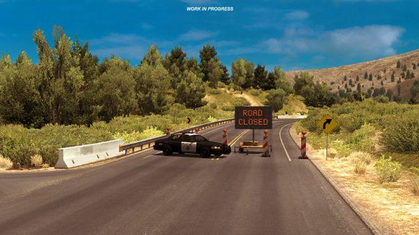 Mengikuti kondisi di dunia nyata, SCS Soft menutup jalan sama di American Truck Simulator karena longsor.