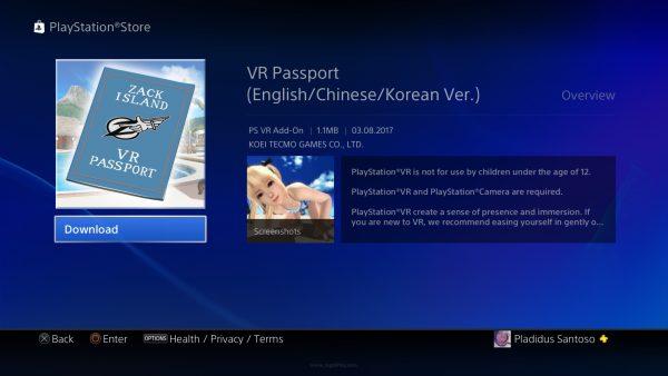 """Anda hanya perlu mengunduh item bernama """"VR Passport"""" untuk mengakses mode ini."""
