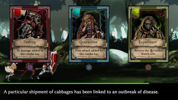Sebagai seorang Putri Kerajaan, Anda harus mengambil keputusan sosial-politik. Namun alih-alih dijadikan sebagai meta-game terpisah, ia berakhir jadi sekedar kartu pilihan dengan buff.