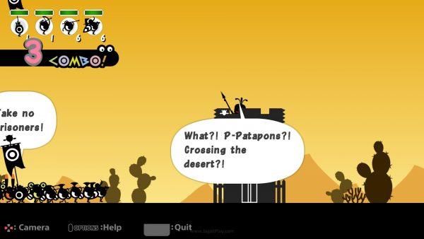 "Di bawah instruksi drum Anda, para PATAPON berambisi mencari objek bernama ""IT"" yang mereka yakini sebagai sumber dari kebahagiaan abadi."
