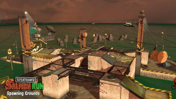 Tidak hanya mode kompetitif saja, Splatoon 2 juga menawarkan mode kooperatif via Salmon Run.