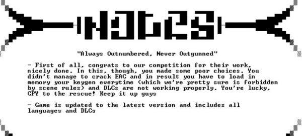 "Lewat rilis Wildlands versi mereka, CPY juga mengkritik ""kelemahan"" rilis milik SteamPunks."