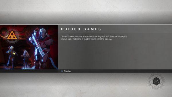 Lewat sistem Guide, pemain solo bahkan bisa menyelesaikan mode lebih sulit seperti Nightfall.