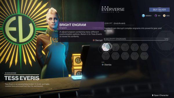 Level sudah mentok? Exp points kini jadi progress untuk mengumpulkan Bright Engram.