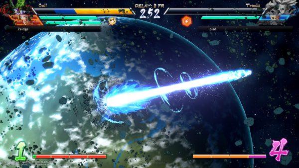 Serangan Ki terbang menjauh dari bumi? Pemandangan khas Dragon Ball tersebut juga bisa Anda temui di sini.