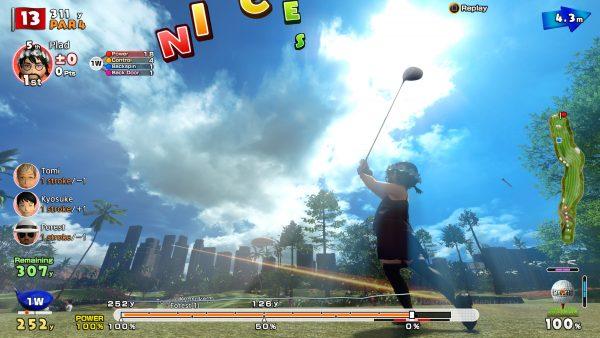 Visual kartun tidak lantas menihilkan kualitas presentasi yang ditawarkan oleh Everybody's Golf. Kualitas tata cahaya dan skybox-nya pantas diacungi jempol.