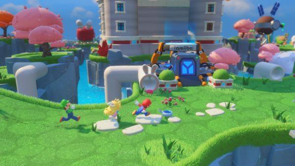 Memilih dunia Mario yang penuh warna sebagai basis adalah pilihan fantastis.