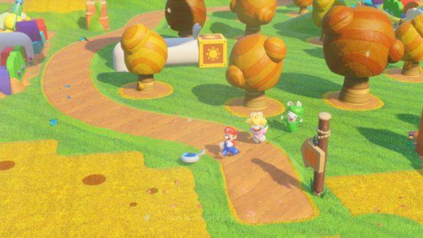 Menggunakan Snowdrop Engine - engine sama di balik The Division, Ubisoft meracik dunia Mario sebagai basis untuk proyek kolaborasi ini.