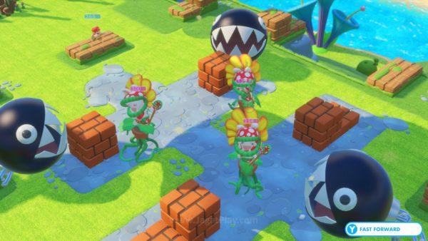 Beberapa arena menambahkan elemen ekstra di dalam pertarungan. Seperti Chain Chomper misalnya, yang akan menyerang siapapun yang terdekat dengannya.