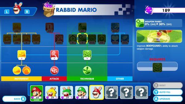 Tanpa sistem level, skill points bisa dikumpulkan dari eksplorasi atau dari pertempuran.