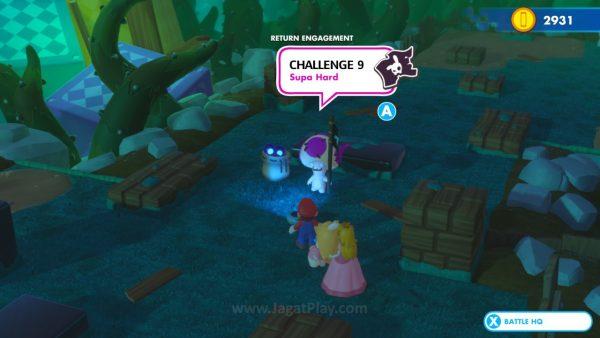 """Untuk World yang sudah Anda selesaikan, Anda bisa menempuh misi """"Challenge"""" yang akan menawarkan uang dan skill points sebagai reward."""