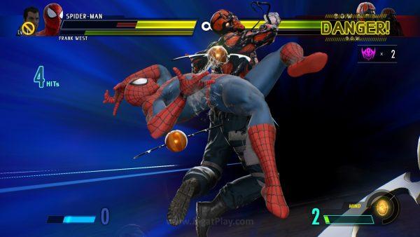 Tiap karakter kini punya serangan ultimate sinematik yang menggunakan 3 bar Power.