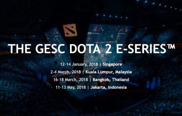 Jakarta akan menjadi tuan rumah turnamen Minor DOTA 2 dari GESC bulan Mei 2018 mendatang. Ada total hadiah USD 300.000 dan 300 points untuk diperebutkan oleh tim yang bertanding di sana.