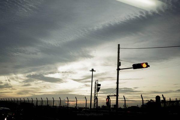 Suasana sore yang cerah di Bandara Haneda
