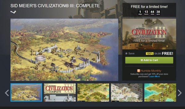 Civilization 3 saat ini bisa diklaim secara cuma-cuma di Humble Bundle!