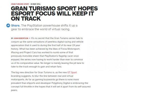 """Ada alasannya mengapa Polyphony Digital memilih nama """"Sport"""" untuk seri dan bukan """"7"""" karena pendekatan yang memang didesain berbeda sejak awal."""
