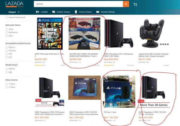 Waspada Saat Membeli Playstation 4 Pro Di E Commerce Indonesia