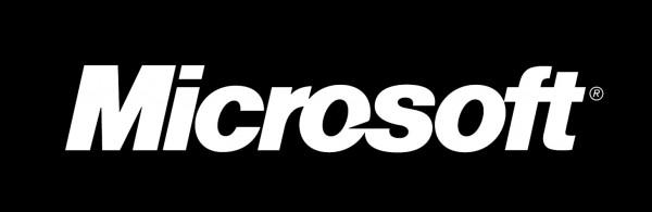microsoft logo black