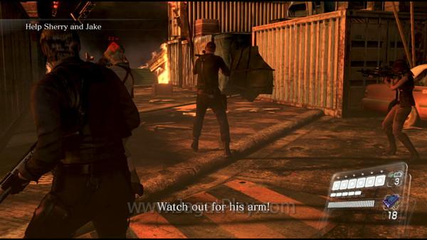 RE 6 gameplay