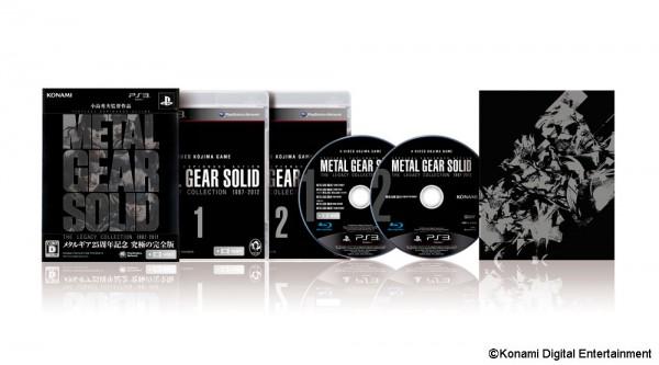 Legacy Collection memuat hampir semua judul Metal Gear Solid yang bergerak dalam satu kesinambungan cerita. Ia ditawarkan dalam dua keping blu-ray dengan harga USD 49.99. Tentu saja eksklusif untuk Playstation 3.