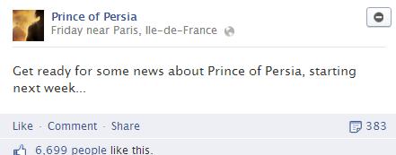 Apakah pengumuman ini akan berujung pada pengumuman seri terbaru Prince of Persia? Please don't be a mobile game..