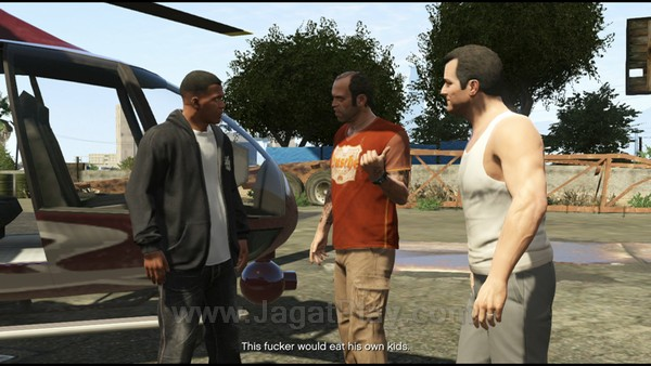 Perkenalkan tiga serangkai yang akan menjadi poros utama cerita GTA V: Franklin Clinton, Trevor Phillips, dan Michael Twonley.