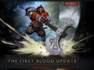 first blood dota 2