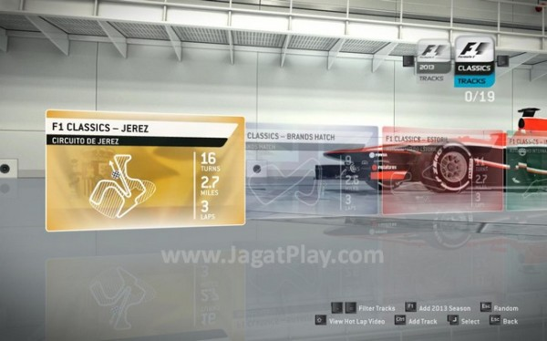 Empat sirkuit klasik hadir juga dalam game ini.