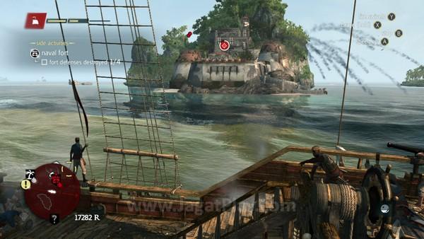 Seperti sistem BorgiaTower di AC II dan Comm Tower di Far Cry 3, Anda juga bisa menghancurkan Fort dan membunuh sang komandan untuk membuka beragam POI di sekitar area tersebut - dan tentu saja memimalisir ancaman dari kapal kolonial yang lain.