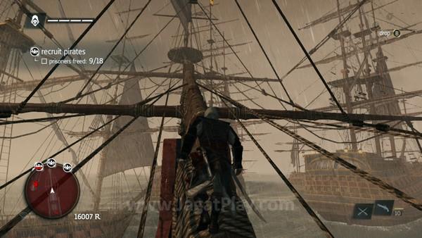 Pesona utama dari Black Flag: tentu saja ketika Anda mengarungi luasnya lautan dan bermain peran sebagai bajak laut!