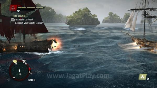 Dengan begitu banyak kapal kolonial untuk dibajak, Anda bisa menggunakan serangkaian senjata untuk menundukkan setiap dari mereka.